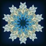 Ornamental round lace pattern, circle background with many details, ornate mandala style. Stock Photography