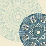 Ornamental round lace pattern Stock Images