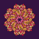 Ornamental round lace pattern, circle vector background Stock Photography