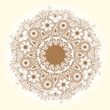 Ornamental round lace pattern.Delicate circle. Royalty Free Stock Images