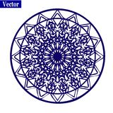 Ornamental round lace pattern. Stock Image