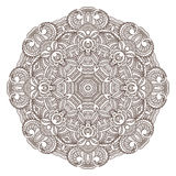 Ornamental round lace pattern Stock Photo