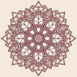 Ornamental round lace pattern. Royalty Free Stock Photo