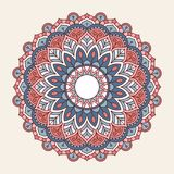 Ornamental round lace pattern Royalty Free Stock Images