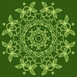Ornamental round lace pattern. Royalty Free Stock Photo