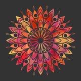 Ornamental round lace pattern Stock Image