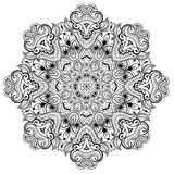 Ornamental round lace pattern is like mandala_1 Royalty Free Stock Images