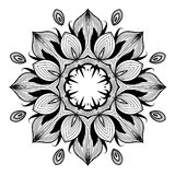 Ornamental round lace pattern is like mandala_1 Royalty Free Stock Photos