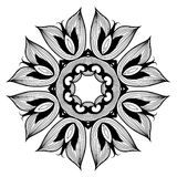 Ornamental round lace pattern is like mandala_1 Royalty Free Stock Photography