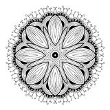 Ornamental round lace pattern is like mandala_1 Royalty Free Stock Image
