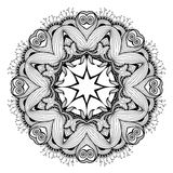Ornamental round lace pattern is like mandala_1. Lacy arabesque designs. Oriental ornament. You can use this pattern in the design of textile, carpet, shawl Royalty Free Stock Photos