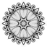 Ornamental round lace pattern is like mandala_1 Stock Images