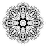 Ornamental round lace pattern is like mandala Royalty Free Stock Photography