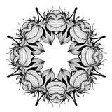 Ornamental round lace pattern is like mandala Royalty Free Stock Photo
