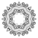 Ornamental round lace pattern is like mandala Stock Photography
