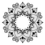 Ornamental round lace pattern is like mandala Royalty Free Stock Photo