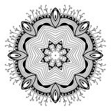 Ornamental round lace pattern is like mandala Stock Photo