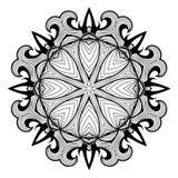 Ornamental round lace pattern is like mandala Royalty Free Stock Photos