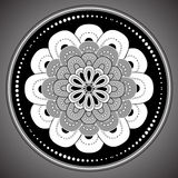 Ornamental round lace pattern vector Stock Photo
