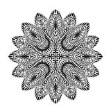 Ornamental round lace pattern. Vector illustration of ethnic style Stock Photos