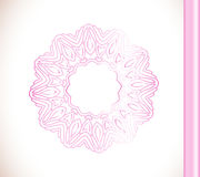 Ornamental round lace pink flower Stock Images