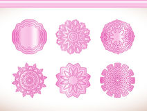 Ornamental round lace pink flower Stock Photography