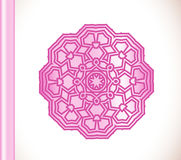 Ornamental round lace pink flower Royalty Free Stock Photos