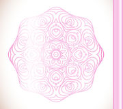 Ornamental round lace pink flower Royalty Free Stock Image