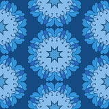Ornamental round lace seamless pattern. Royalty Free Stock Image
