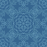 Ornamental round lace seamless pattern. Stock Image
