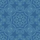 Ornamental round lace seamless pattern. Stock Image