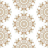Ornamental round lace seamless pattern. Royalty Free Stock Photo
