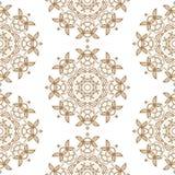 Ornamental round lace seamless pattern. Royalty Free Stock Photo