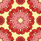 Ornamental round lace seamless pattern. Royalty Free Stock Photos