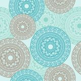 Ornamental round lace seamless pettern Royalty Free Stock Photos