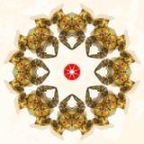 Ornamental round lace. Triangles ornament Stock Images