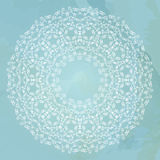 Ornamental round lace vector background Stock Photo