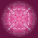 Ornamental round lace. Vector freehand Stock Photo