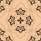 Ornamental round morocco seamless pattern.  Flat. Stock Images