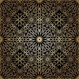 Ornamental round morocco seamless pattern. Royalty Free Stock Photo