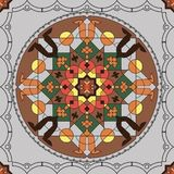 Ornamental round morocco seamless pattern. Stock Photos