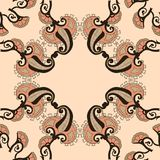 Ornamental round morocco seamless pattern. Royalty Free Stock Images