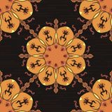 Ornamental round morocco seamless pattern. Royalty Free Stock Photography