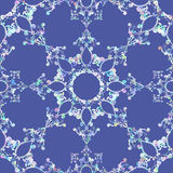 Ornamental round morocco seamless pattern. Stock Image