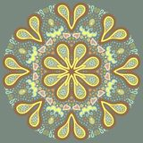 Ornamental round for paisley. Royalty Free Stock Photos