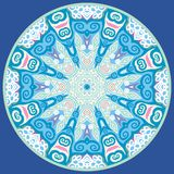 Ornamental round for paisley. Royalty Free Stock Image