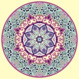 Ornamental round for paisley. Royalty Free Stock Photo