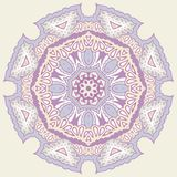 Ornamental round for paisley. Royalty Free Stock Images