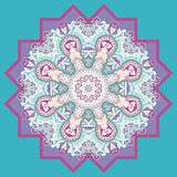 Ornamental round for paisley. Stock Photography