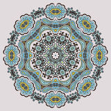 Ornamental round pattern. Circle background with many details Stock Photos